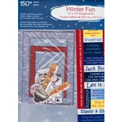 "American Traditional Designs - Winter Fun - 12""x12"" Scrapbook Kit"