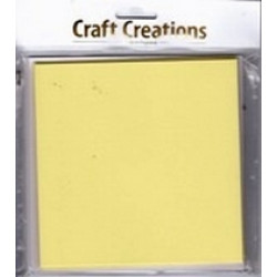 Craft Creations - 5 Pack 144 x144mm Single Fold Card - Plain Yellow Pastel