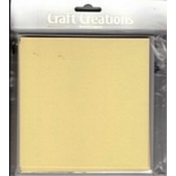 Craft Creations - 5 Pack 144 x144mm Single Fold Card - Plain Cream