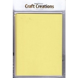 Craft Creations - 5 Pack 150 x203mm Single Fold Card - Plain Yellow Pastel