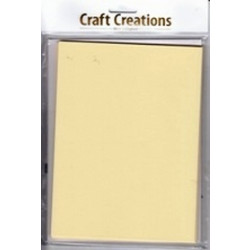 Craft Creations - 5 Pack 150 x203mm Single Fold Card - Plain Cream