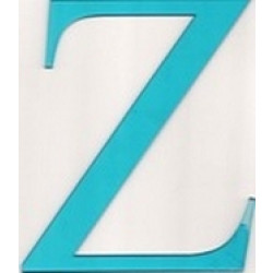 Large Capital Letters - Clear Plastic - Z