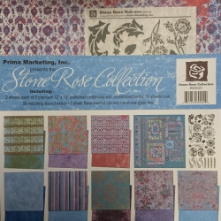 Prima - Stone Rose Collection - 12x12 Scrapbook Page Kit