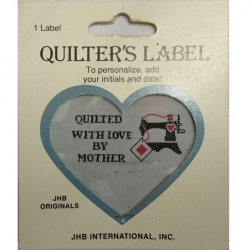 Quilter's Label - Quilted with Love by Mother (Sewing Machine)