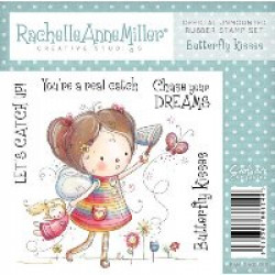 Rachelle Anne Miller Rubber Stamps - Butterfly Kisses