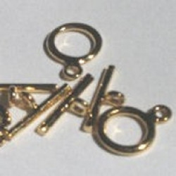 Silver Plated 10mm Toggle Clasp (14mm Bar)