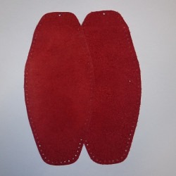 Elbow Patches Pair - Leather - Red