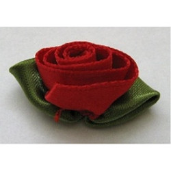 Satin Rose Bud Red Large Pack of 4