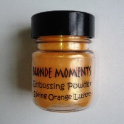 Blonde Moments Embossing Powder - Spring Orange Lustre