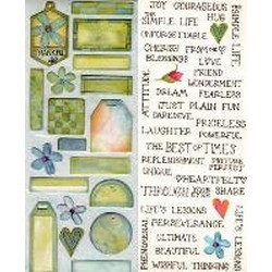 Carolyn Holt Designs - Cottage Garden Tags in Blue