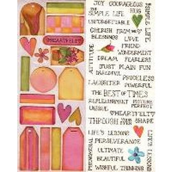 Carolyn Holt Designs - Cottage Garden Tags in Pink