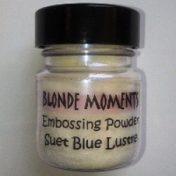 Blonde Moments Embossing Powder - Suet Blue Lustre