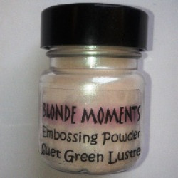 Blonde Moments Embossing Powder - Suet Green Lustre