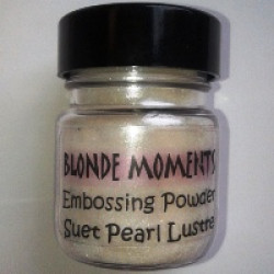 Blonde Moments Embossing Powder - Suet Pearl Lustre