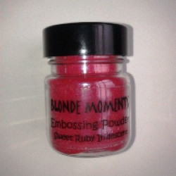 Blonde Moments Embossing Powder - Sweet Ruby Iridescent
