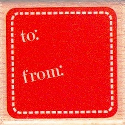 Dovecraft Studio6 - Wooden Stamp - To From Tag