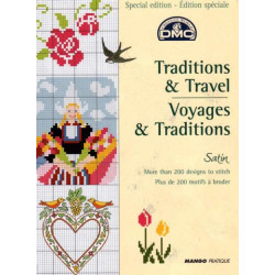 DMC Traditions and Travel Embroidery Chart Book