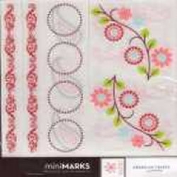American Crafts MiniMARKS Rub-On Transfers - 43170 Accents Book One