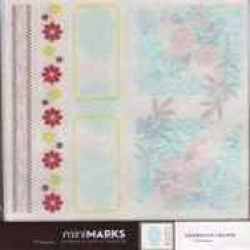 American Crafts MiniMARKS Rub-On Transfers - 43173 Accents Book Two