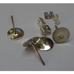 Trimits - Ear Posts (Flat) Two Pairs for Making Earrings